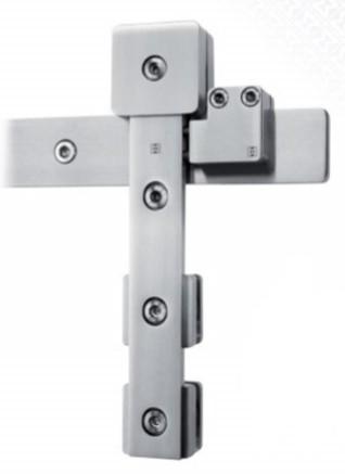 Schiebetürbeschlag Akzent R - Set für Glastüren mit Stärke 8-12mm