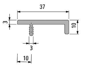 Griffleisten Typ J, Lagerlängen 2500mm, Aluminium EV1 und E-Finish