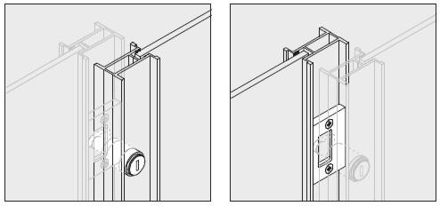 Rahmenschloss zu Schiebetüren Alpha Profil 2400