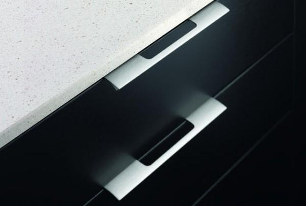 Griffleisten Edge Urban, Aluminium E-Finish zum Anschrauben