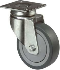 Apparate - Lenkrollen, Bel. 50/60kg