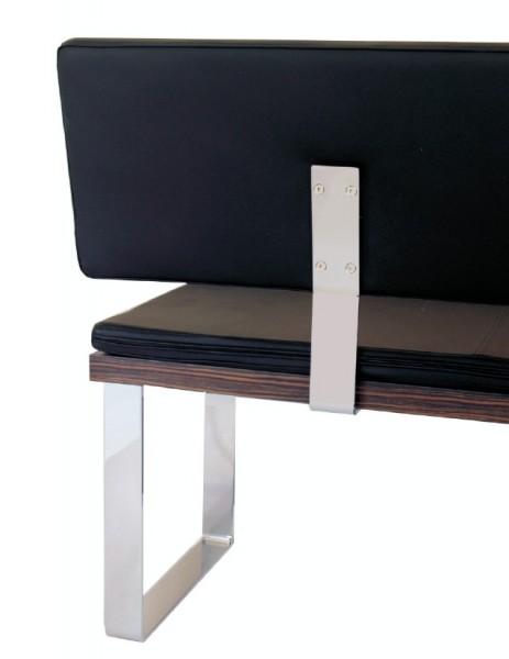 Lehnen für Sitzbank, Profil 60x8mm, verchromt oder Edelstahl