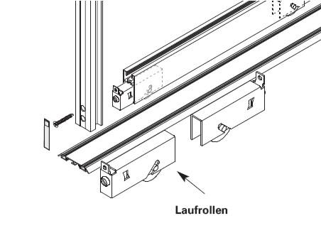 Turbo Laufrollen zu Schiebetüren Alpha | Zubehör für Schiebetüren Alpha JC09