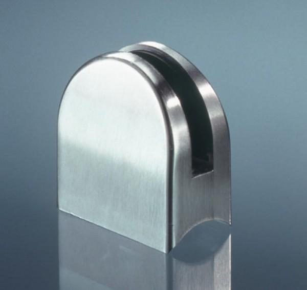 Glasklemmhalter Edelstahl V2A für Rundrohre 40mm