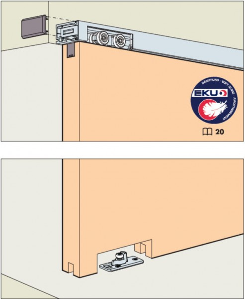 EKU Porta 60/100HMD bis Türgewicht 60/100kg, Wandmontage