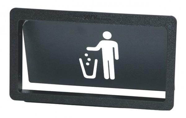 Müllklappe Kunststoff, mit Piktogramm