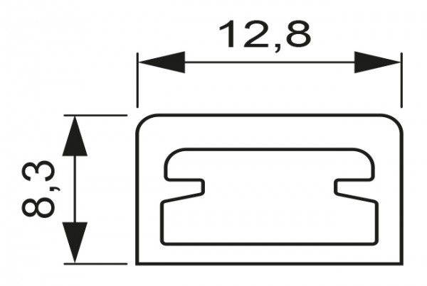 LED Leuchtenprofil Vedua Länge: 1800/ 2500mm