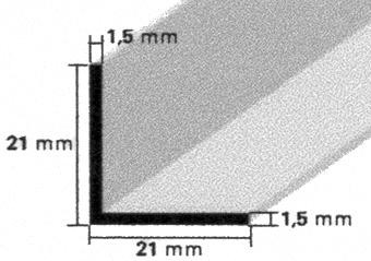 Trennwandprofile für 19mm Platten EV1 eloxiert, Länge 5,0m