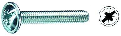 Möbelgriffschrauben Stahl M4 verzinkt (VE 100 Stück)