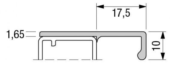 Griffleisten Typ S222, Lagerlängen 2500mm, Aluminium EV1 und E-Finish