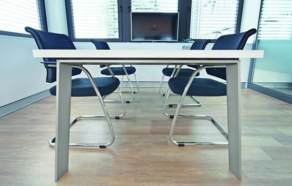 Tischgestell Cone, Aluminium Edelstahl Optik