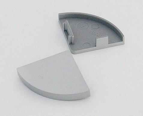 Endkappenset zu LED Leuchtenprofil 26,5x26,5mm