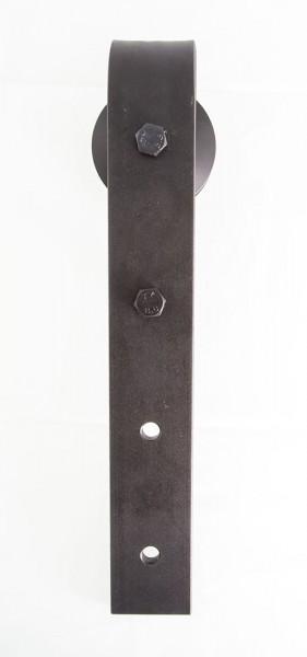 Schiebetürbeschlag Stahl - Set für Glastüren mit Stärke 8 - 12,7mm