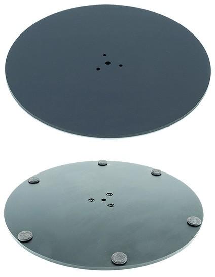 Fußgestell für Tischsäule Schwarz