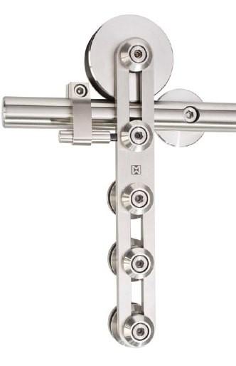 Schiebetürbeschlag Klassik - Set für Glastüren mit Stärke 8-12mm