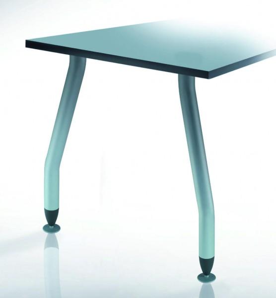 Tischbein Set RAL 9006, Höhe 705mm