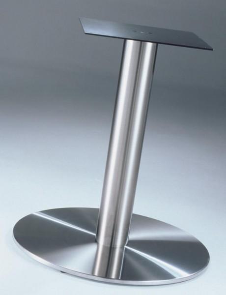 Einsäulen Tischgestell Edelstahl für Holzplatten