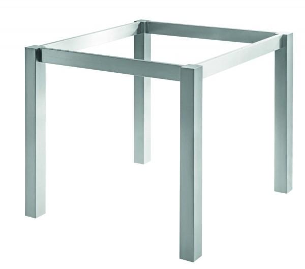 Tischgestell Basic 1 Quad, Edelstahl matt geschliffen