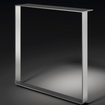 Kufen für Anbautische, Profil 60x8mm, verchromt oder Edelstahl