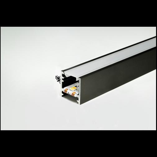 LED Leuchtenprofil Bali schwarz Länge: 2500mm