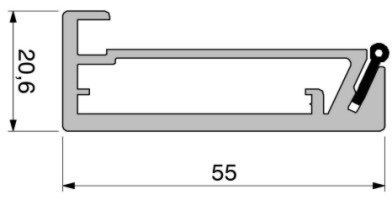 Alumniumrahmen auf Maß, Profil K381 EV1 eloxiert