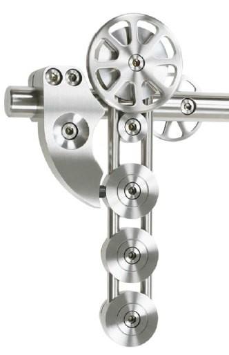 Schiebetürbeschlag Spider - Set für Glastüren mit Stärke 8-12mm