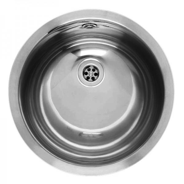 Waschbecken AMAZONE Edelstahl, Durchmesser 390mm