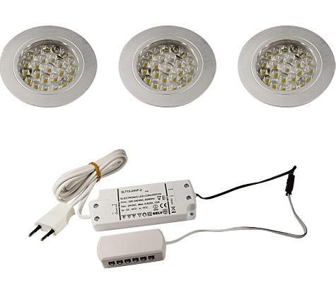 LED Einbauleuchte 3er Set EBL-55, 24 Volt