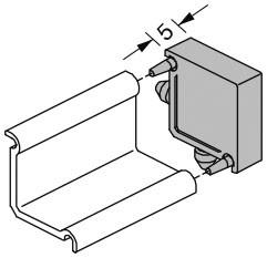 Endkappen für Griffschale Aluminium EV1 eloxiert