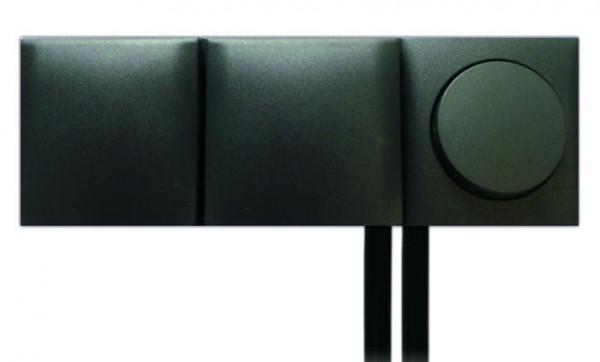 Einbau Schalter - Steckdose 3-fach Kombination mit Klappdeckel