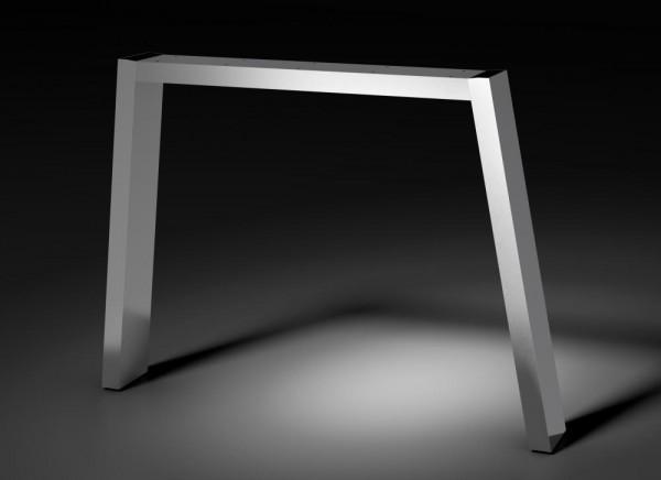 Tischgestell Pisa, Rechteckrohr 120x40mm, RAL 9023 perldunkelgrau