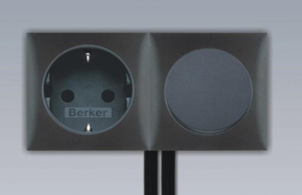 Einbau Schalter - Steckdose 2-fach Kombination