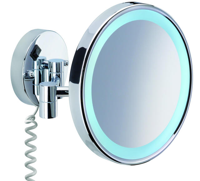 kosmetikspiegel pro mr 431 beleuchtet messing sanit rzubeh r k che bad bfb gmbh. Black Bedroom Furniture Sets. Home Design Ideas