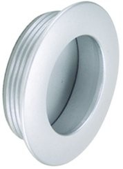 Muschelgriff rund, gewölbter Rand, Aluminium eloxiert