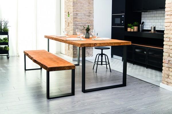 Kufen für Bank und Tisch, Profil 80x20mm, Schwarz matt (1 St.)