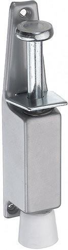 Türfeststeller Aluminium Druckguss, Silber lackiert