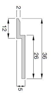 Keilleisten Aluminium, Aufbauhöhe 5mm