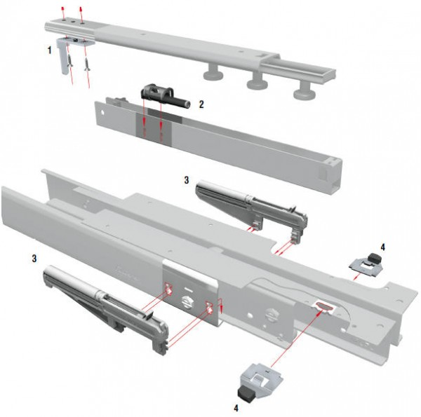Fulterer ECD Dämpfungssystem für Kulissenvollauszug FR 777
