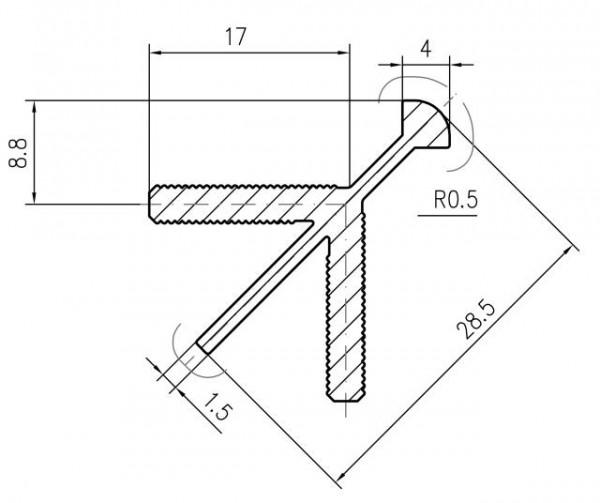 Korpus-Eckverbinder-Profile Aluminium EV1 eloxiert