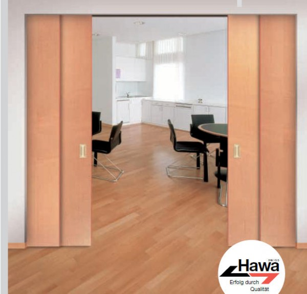 Hawa Telescopic 80/2 - Beschlagset für 2 Türen