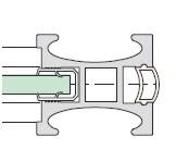 Gleitschiebetüren Alpha Profil ST 2500 - Maßfertigung
