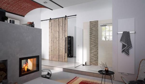 Schiebetürbeschlag Stahl - Set für Holztüren mit Stärke 40mm