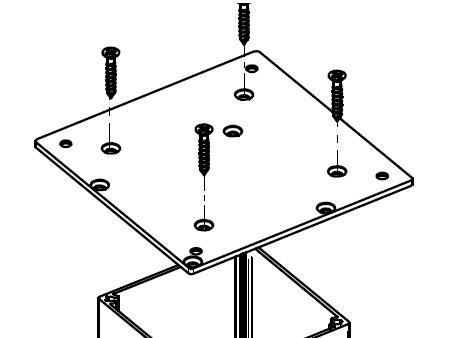 Montageplatten für Tischbeine eckig 80x80mm