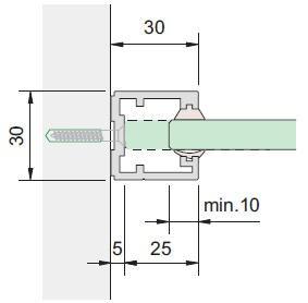 Glasrahmenprofil MRU 30 Maßfertigung