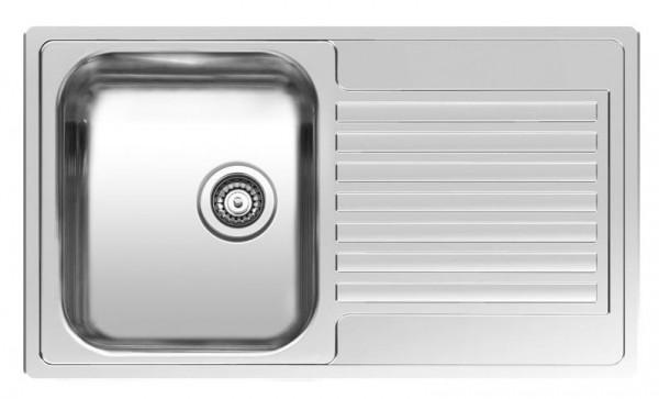 Spüle Centurio 10 CC ohne Überlauf, Maße 860x500mm