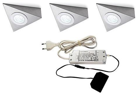 LED Anbauleuchten Delta 3er-Set, 12 Volt