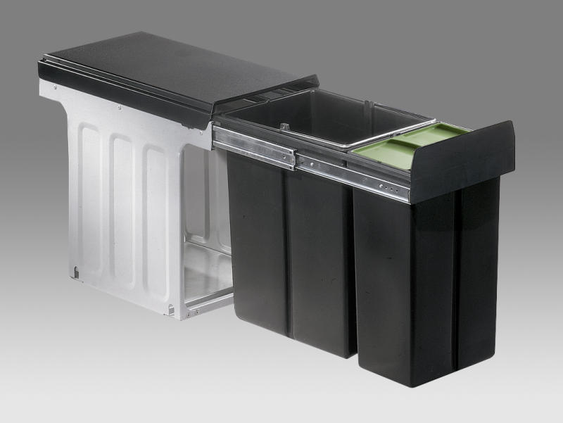 wesco abfallsammler bio double maxi profi 1x20 1x10 liter abfallsammler k che bad bfb gmbh. Black Bedroom Furniture Sets. Home Design Ideas