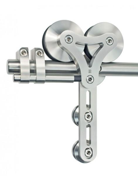 Schiebetürbeschlag Duplex - Set für Glastüren mit Stärke 8-12,7mm