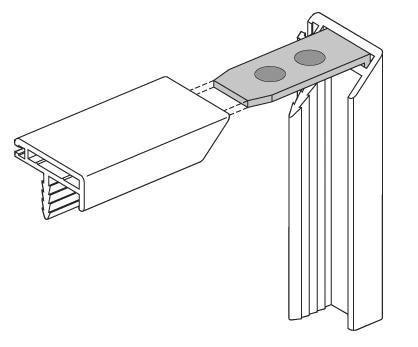 Eckverbinder für Frontrahmenprofile Aluminium