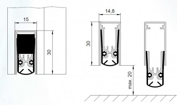 DSD 1530a Schall-Dicht, automatische Bodentürdichtung